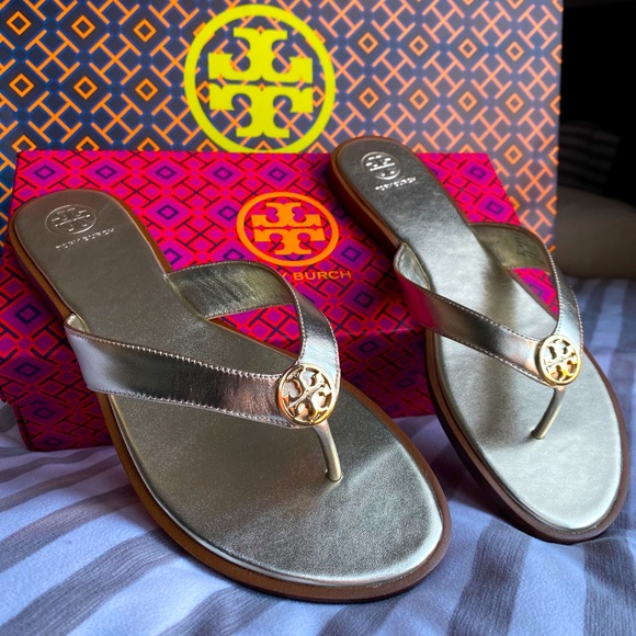 Tory Burch Gold sandals!